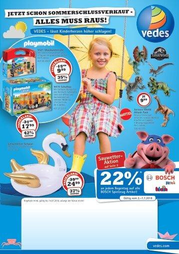 VEDES Sommerschlussverkauf-Flyer 2018 | Z518