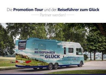 Konzept Promotionstour & Der Reiseführer zum Glück
