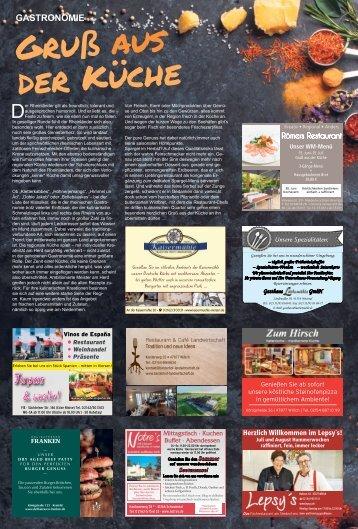 Gastronomie - Gruß aus der Küche - 15.06.2018 -