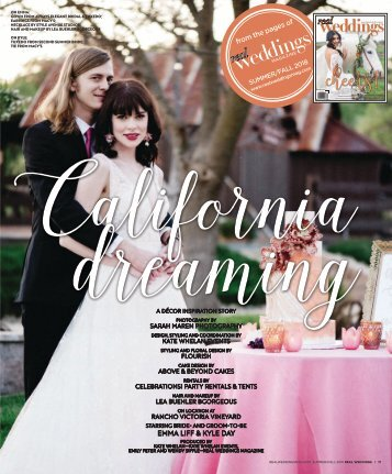 Real Weddings Magazine - Summer/Fall 2018 - California Dreaming-A Decor Inspiration Story {The Digital Layout}
