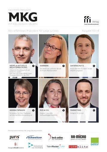 Fachinfo-Magazin MkG - Ausgabe 03/2018