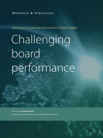 European Corporate Governance Report 2011 - Heidrick & Struggles