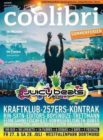 Juli 2018  – coolibri Recklinghausen, Gelsenkirchen, Herne