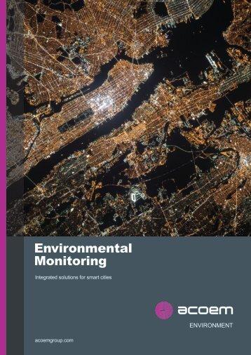 ACOEM Environment Smart Cities Environmental Monitoring, 01dB & ECOTECH brochure