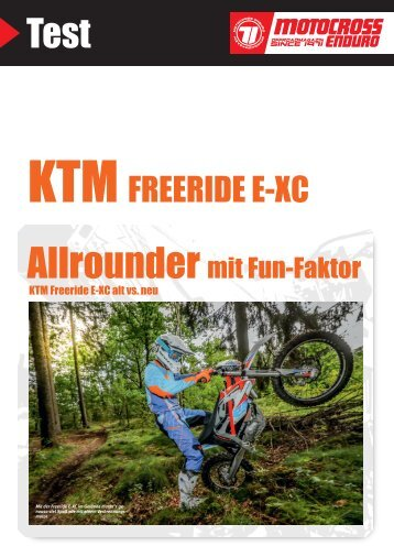 KTM Freeride E-XC alt vs. neu