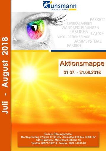 Aktionsmappe Juli - August 2018