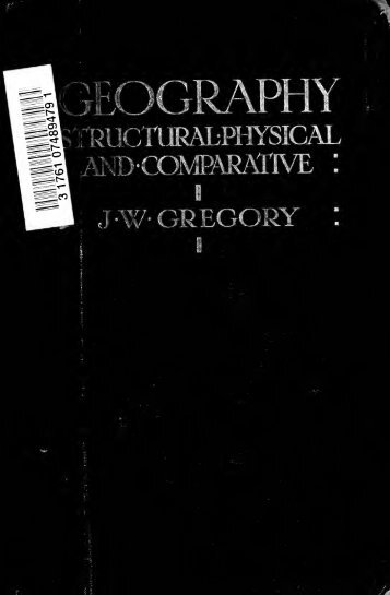 Geography, structural, physical, and comparative - Index of