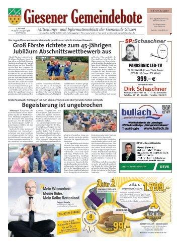 Giesener Gemeindebote 05.07.18