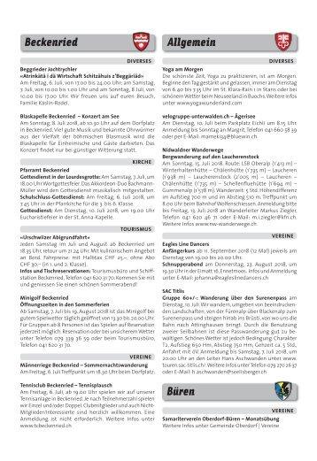 Gemeindespalten KW27 / 05.07.18