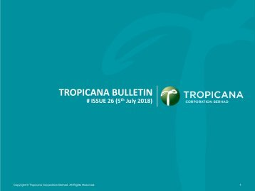 Tropicana Bulletin Issue 26