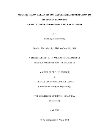 Masters of science thesis
