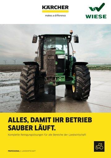 Komplette Reinigungslösung für alle Bereiche der Landwirtschaft