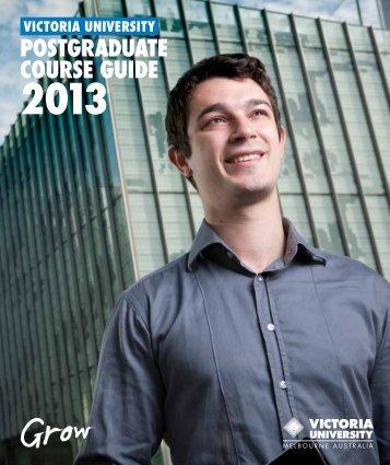 POSTGRADUATE COURSE GUIDE - Victoria University