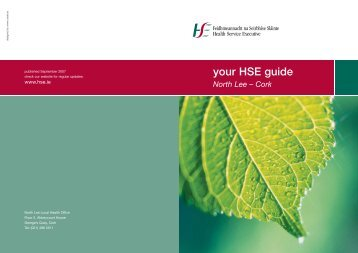 your HSE guide North Lee – Cork - Health Service Executive