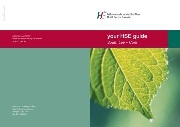 your HSE guide South Lee – Cork - Health Service Executive
