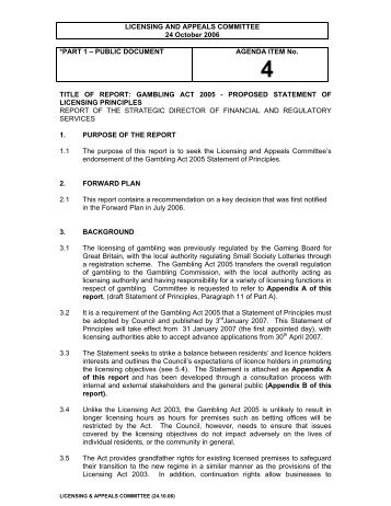 Gambling act 2005 explanatory notes
