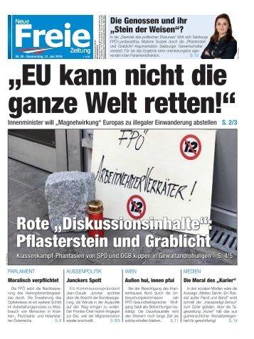 """""""Die EU kann nicht die ganze Welt retten!"""""""