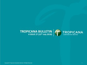 Tropicana Bulletin Issue 27