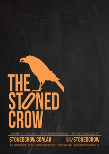 stonedcrow.com.au /stonedcrow - The Stoned Crow