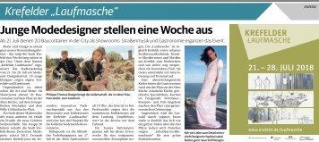 """Krefelder """"Laufmasche""""  -17.07.2018-"""