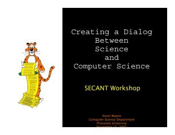 Creating a Dialog Between Science and Computer Science