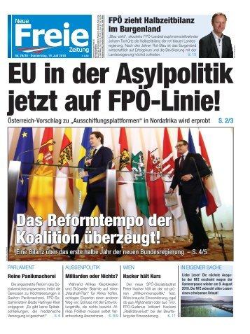 EU in der Asylpolitik jetzt auf FPÖ-Linie!