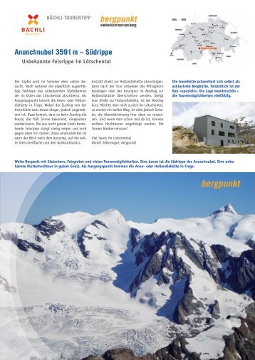 Tourentipp 07.2018 - Anunchnubel 3591 m – Südrippe