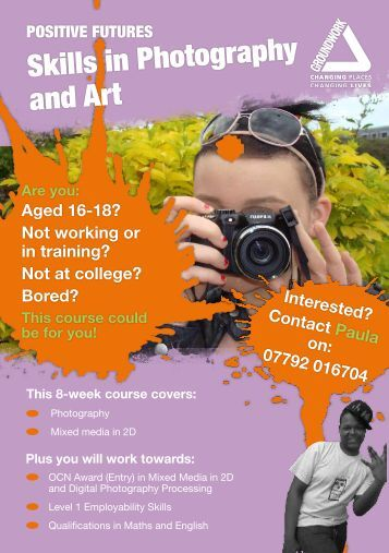 Skills in Photography and Art - Groundwork: Yorkshire & The Humber