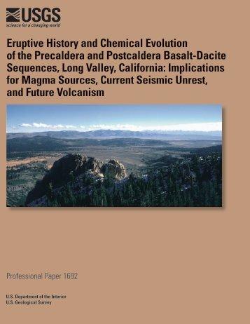 Eruptive History and Chemical Evolution of the Precaldera - USGS