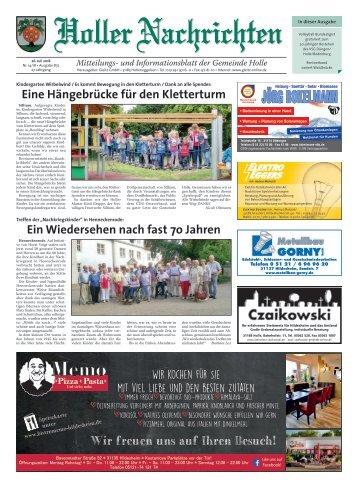 Holler Nachrichten 26.07.18