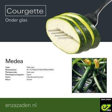 Leaflet Courgette Medea 2018
