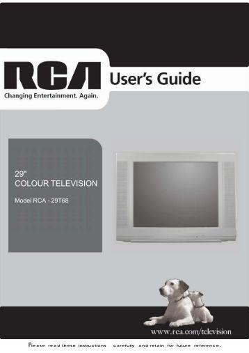 RCA-29T68 User Manual