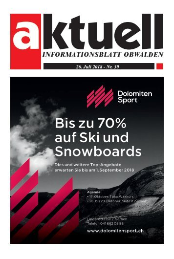 Aktuell Obwalden 30-2018