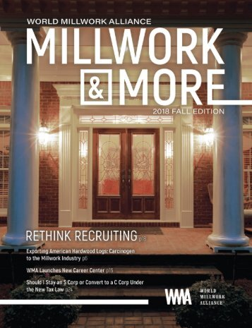 Millwork & More Magazine Fall 2018 - Single Page - Without Bleed