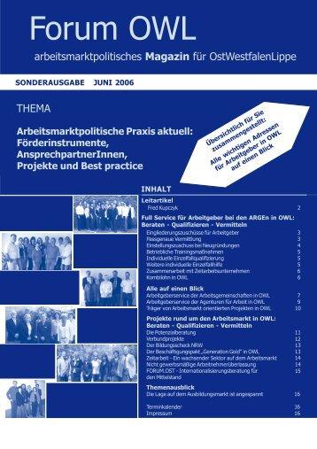 Arbeitsmarktpolitische Praxis aktuell - Jobcenter im Kreis Paderborn