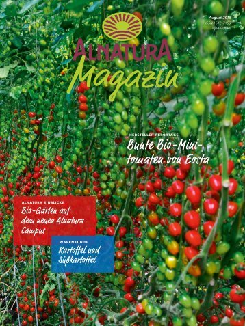 Alnatura Magazin August 2018
