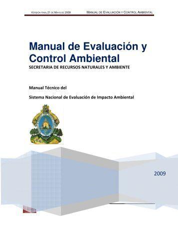 Manual de Evaluación y Control Ambiental, clic aquí - PROMECOM