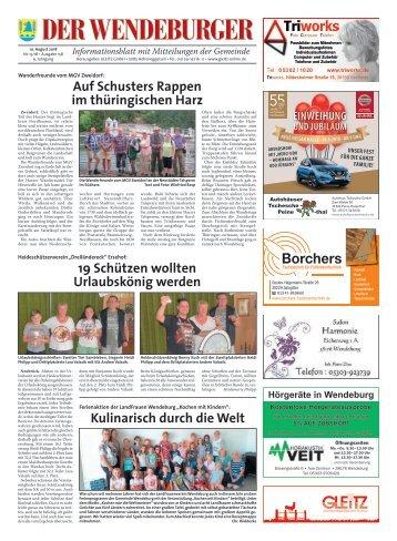Der Wendeburger 09.08.18