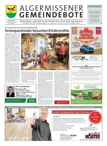 Algermissener Gemeindebote 09.08.18
