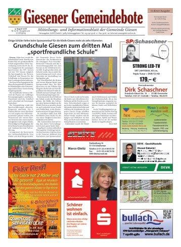 Giesener Gemeindebote 09.08.18