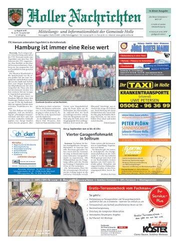 Holler Nachrichten 09.08.18