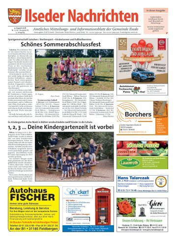 Ilseder Nachrichten 09.08.18