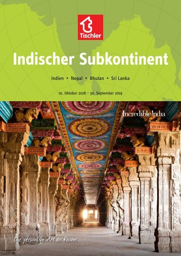 Tischler Reisen - Indischer Subkontinent 2018-19