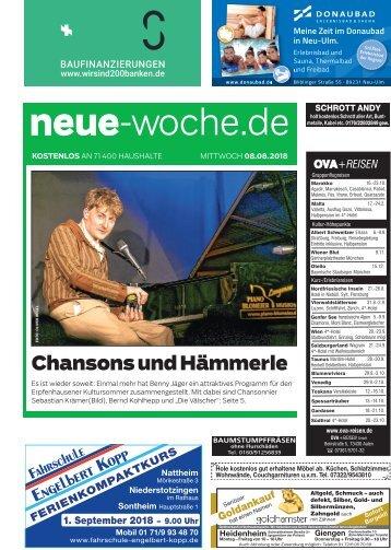 08.08.2018 Neue Woche
