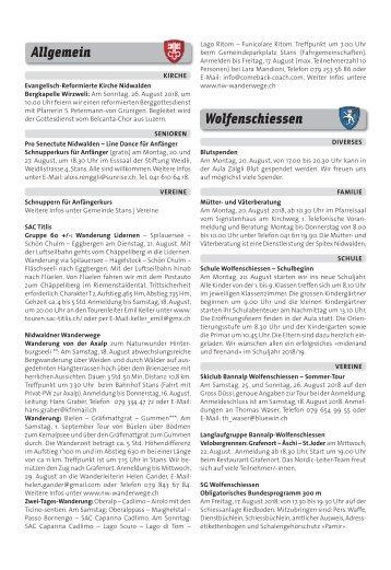 Gemeindespalten KW33 / 17.08.18