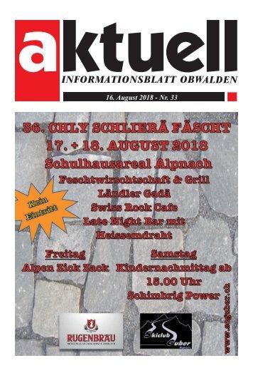 33-2018 Aktuell Obwalden