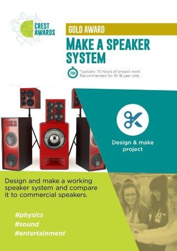 Make a speaker system