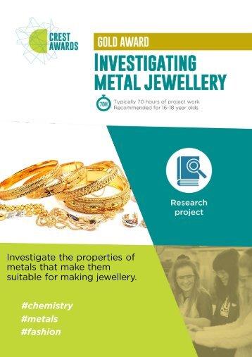 Investigating metal jewellery
