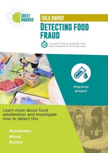 Detecting food fraud