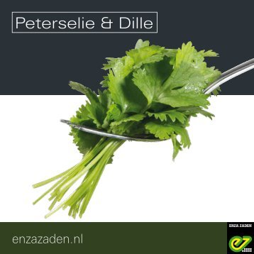 Leaflet Peterselie en Dille 2018